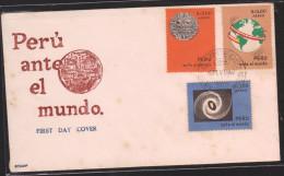O) 1967 PERU, PERU BEFORE THE WORLD,MAP, FDC XF - Peru