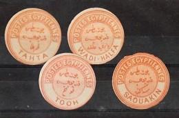 Egypt: Inter-postal Labels. Selection Of 4; Tahta,Wadi-Halfa, Tooh, Saoukin. - Ungebraucht