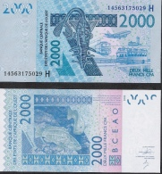 W.A.S. NIGER P616Hn 2000 FRANCS Type 2012 Dated (20)14  2014 UNC. - Niger