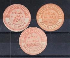 Egypt: Inter-postal Labels. Selection Of 3; Ras-El-Halig, Rahmanieh, Ramleh (Station Shut0 RR. - Ungebraucht