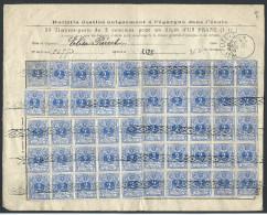 Bordereau De Caisse D´épargne Affr N°27 X 50 Roulette + Càd LIZE (SERAING)/1884 + Griffe LIZE - 1869-1883 Léopold II