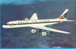 Delta Air Lines. The Douglas- DC-8 FANJET- M8875 - 1946-....: Moderne