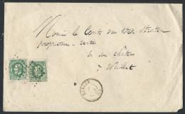 L Affr N°30 X2 Lpts 237 MARCHE/1869 Pour Waillet - 1869-1883 Leopold II