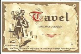 ETIQUETTE TAVEL LEONCE AMOUROUX à CHATEAUNEUF DU PAPE VAUCLUSE - Pink Wines