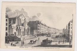 D 75 - ANCIEN PARIS - 80 - L'Eglise Saint-Roch Et La Rue Saint-Honoré Vers 1830 - France