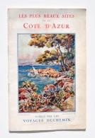 Les PLUS BEAUX SITES De La CÔTE D'AZUR - AUTOCARS VOYAGES DUCHEMIN 1926 / Nice, St-Raphaël, Menton, San Remo, Corse, Etc - Transports