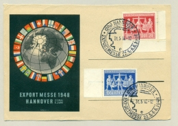 Deutschland - 1948 - Exportmesse Hannover 1948 In Special Card / Cancel - Amerikaanse, Britse-en Russische Zone