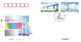 CHINA -  2000 FDC Mi #3131-3134 HIGHWAY BRIDGES - 1949 - ... Volksrepublik