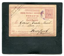 Turkey Ottoman Empire Postcard 1893 Violet Bahnpost - 1858-1921 Ottoman Empire