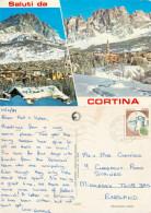 Cortina D'Ampezzo, BL Belluno, Italy Postcard Posted 1989 Stamp - Belluno