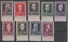 Austria 1937 - Medici - ** Mi. 649-657 - Neufs