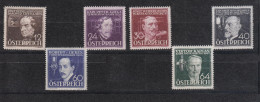 Austria - Erfinder (1936) - Michel 632-637 ** - Neufs