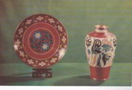 Cloisonne Plate & Vase From Peking China - Porcelaine