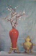 Vermillion Lacquer Vase And Incense Burner From Foochow China - Other