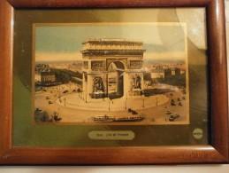 Arco De TRiunfo Paris - Foto Con Color Dentro De Un Cuadro Con Vidrio - - Otros