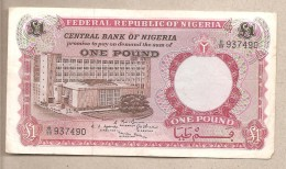 Nigeria - Banconota Circolata Da 1 Sterlina - 1967 - Nigeria
