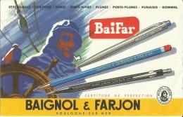 Buvard - Baifar - Baignol & Farjon - Boulogne Sur Mer  .         (2 Scans) - Papeterie