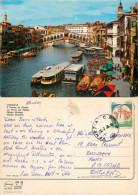 Ponte Di Rialto, Venezia, VE Venezia, Italy Postcard Posted 1995 Stamp - Venezia