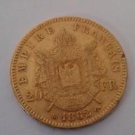 20 FRANCS OR EMPEREUR NAPOLÉON III 1862 BB - Oro