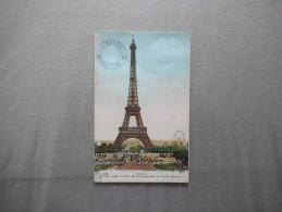 LA TOUR EIFFEL LE PARC DU CHAMP DE MARS ET L'ECOLE MILITAIRE CACHET 2e PLATEFORME 1921 - Tour Eiffel