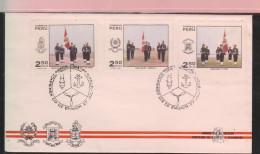 O) 1970 PERU, ARMY- MILITARY UNIFORM, AIR FORCE -MILITARY SCHOOL- NAVAL SCHOOL, FDC XF - Peru