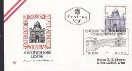EUROPA, CEPT-Mitläufer: ÖSTERREICH 1385, FDC, Konferenz Der Europäischen PTT-Minister, Wien 1972 - Europa-CEPT