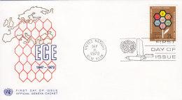 EUROPA, CEPT-Mitläufer: UNO New York 251 FDC, 25 Jahre Wirtschaftskommission Für Europa (ECE) 1972 - Europa-CEPT