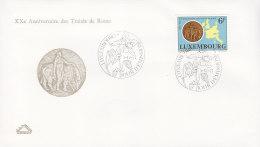 EUROPA, CEPT-Mitläufer: LUXEMBURG 956, FDC, 20 Jahre Römische Verträge,  1977, Europa Mit Stier - Europa-CEPT