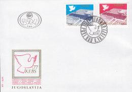 EUROPA, CEPT-Mitläufer: JUGOSLAWIEN 1699-1700, FDC, Konferenz über Sicherheit Und Zusammenarbeit In Europa (KSZE),  1977 - Europa-CEPT