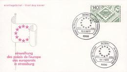 EUROPA, CEPT-Mitläufer: BRD 921, FDC, Einweihung Des Palais De L'Europe Des Europarats In Straßburg,  1977 - Europa-CEPT