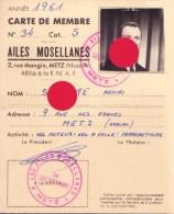 AERO-CLUB DE METZ  Moselle LES AILES MOSELLANES Aviation Parachutisme Vol à Voile - Cartes
