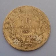 RARE :10 FRANCS OR EMPIRE FRANÇAIS 1867BB - Oro