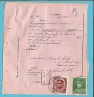 PROTET DE NON PAYEMENT D´EFFET Affr. 317+323 Obl. WATERMAEL  (TB-perfo Réglementaire Du Timbre) - 1931-1934 Kepi