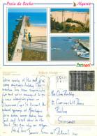 Praia Da Rocha, Portugal Postcard Posted 1996 Stamp - Faro