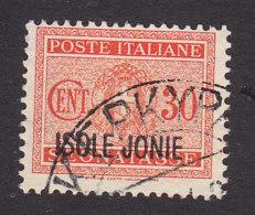Italian Occupation Of Ionian Islands, Scott #NJ3, Used, Postage Due Overprinted, Issued 1941 - 9. WW II Occupation (Italian)