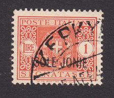 Italian Occupation Of Ionian Islands, Scott #NJ4, Used, Postage Due Overprinted, Issued 1941 - 9. WW II Occupation (Italian)
