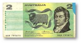 AUSTRALIA - 2 Dollars - Nd ( 1976 ) - P 43.b3 - Sign. H. M. Knight And F. H. Wheeler - Sir Joseph Banks - Reserve Bank - 1974-94 Australia Reserve Bank (papier)