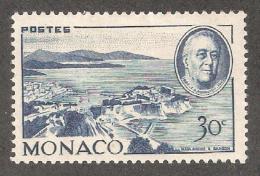 Monaco 1946,US Presidents,FDR Franklin D.Roosevelt,Sc 199,Mint L Hinged* - Unused Stamps