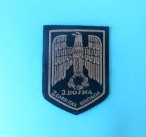 2. GUARD BRIGADE Mostar # 4 - BOSNIAN CROATS ARMY HVO In BOSNIA WAR 1992-95. Orig. Patch Bosnie Bosnien Kroatien Croatia - Patches