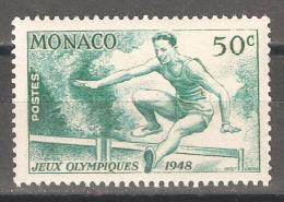 Monaco 1948,Sports,Hurdler,Sc 204,Mint L Hinged* - Unused Stamps