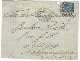 Indie Olandesi - Netherlands Indies - 1913 - 12 1/2 Cent - Kaiserlich Deutsches General-Konsulat In Batavia - Viaggia... - Nederlands-Indië