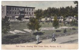 Mandan North Dakota, Inter Ocean Hotel, Park Scene, C1900s10s Vintage Postcard - Mandan