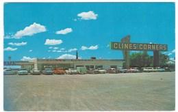 Near Albuquerque New Mexico Route 66 Restaurant Cline's Corner, C1950s/60s Vintage Postcard - Route '66'