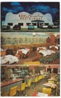Sullivan Missouri Route 66 Snell's Restaurant Awful Good Food, Interior View, Autos, C1950s/60s Vintage Postcard - Route '66'