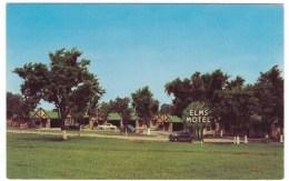 Joplin Missouri Route 66 Lodging, Elms Motel, Auto C1950s Vintage Postcard - Route '66'