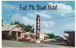 Joplin Missori Route 66 Lodging, East 7th Street Motel, Auto, C1960s Vintage Postcard - Route '66'