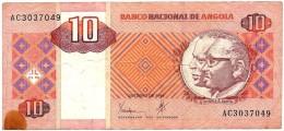ANGOLA - 10 KWANZAS - 10.1999 - P 145 - SIGN. 21 - EDUARDO DOS SANTOS E AGOSTINHO NETO - Angola