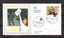 "FRANCE 2005 : Enveloppe 1er Jour En Soie N° YT 3779 "" ALBERT EINSTEIN "" En Parfait état. FDC"