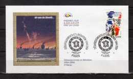 """FRANCE 2004 : Enveloppe 1er Jour """" DEBARQUEMENT ET LIBERATION """" N° YT 3657 . Parfait état. FDC - 2. Weltkrieg"""