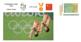 Spain 2016 - Olympic Games Rio 2016 - Gold Medal - Trampoline Jump Male China Cover - Juegos Olímpicos